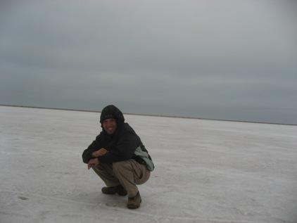 Neve na Namibia? Nao, sal!!