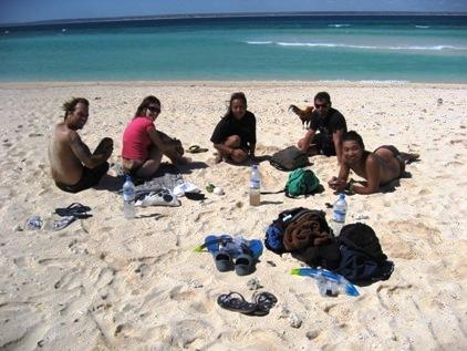 Curtindo uma praia