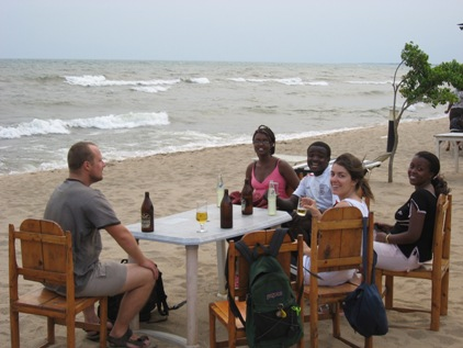 Praia no Tanganika