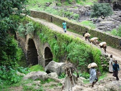 No caminho da cachoeira