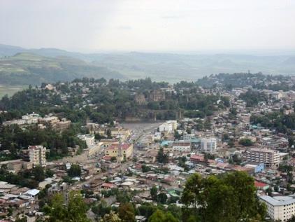 Vista panoramica de Gonder