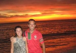 Por do sol em Maluk