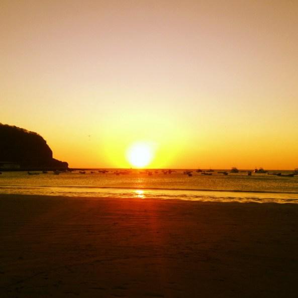 Por do sol em San Juan del Sur
