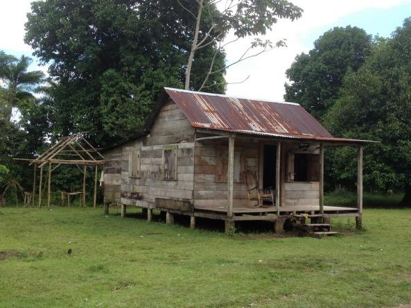 Habitação local das comunidades ribeirinhas