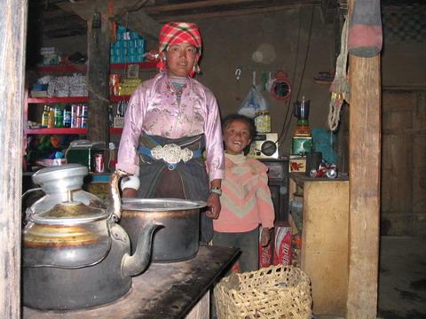 Chá de manteiga sendo preparado