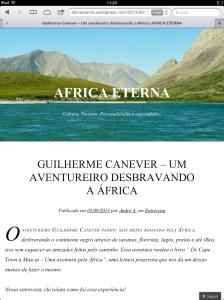 Entrevista site África Eterna