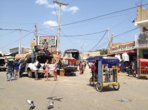Aguardando transporte em Uríbia