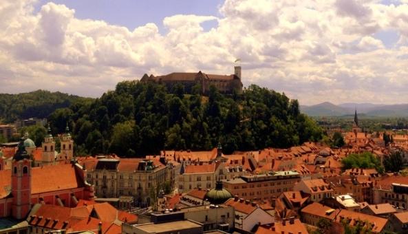 O castelo e o centro histórico