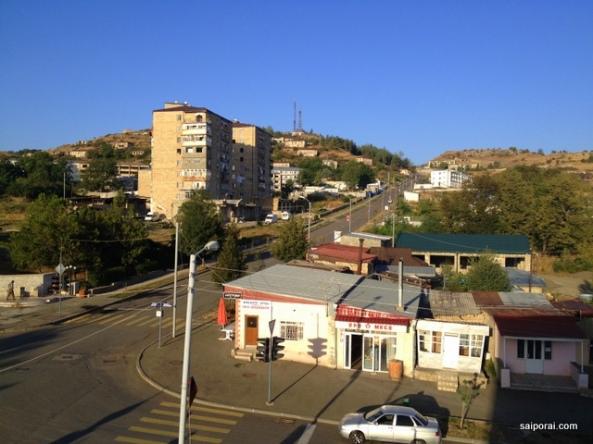 Vista do nosso quarto em Shushi