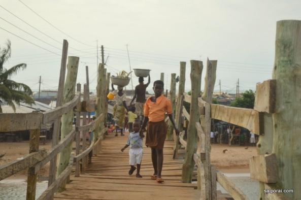 Ponte movimentada