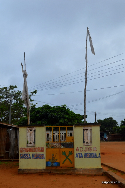 Locais de culto espalhados pela por Ouidah