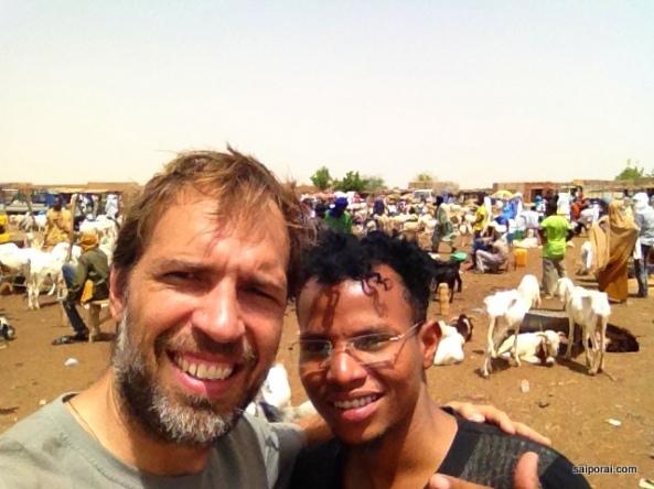 Com meu amigo Mohamed