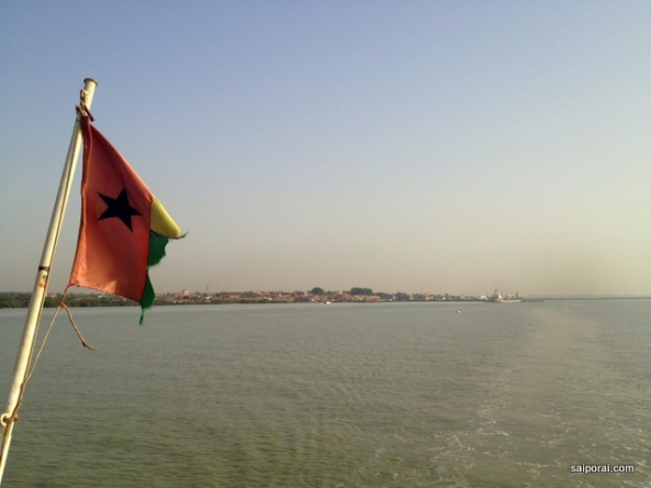 Ultima vista de Bissau